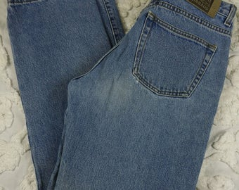 Marithe Francois Girbaud Vintage sz 10 Boyfriend Blue Jeans 1990s Light Wash