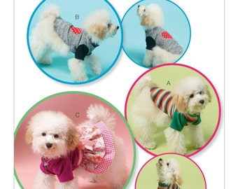 Sewing Pattern for Dog Clothes, Kwik Sew # 4152, Pet Coats, Dog Jackets, Doggie T-Shirts, Doggie Dress