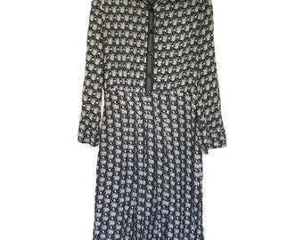 Vintage Shirt Dress Astibo Creation // Made in Macedonia // 1980s