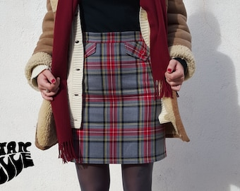 60s Skirt, 60's Skirt, Tartan check skirt