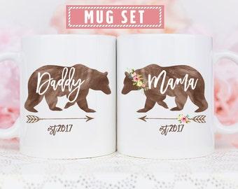 Daddy Bear Mug, Mama Bear Daddy Bear, Mom Dad Bear Mug, Mama Daddy Bear Mugs, Mama Bear and Daddy Bear Mugs, Bear Mug Set, Mama Daddy Bear