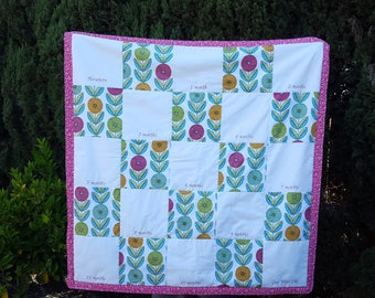 Custom Handprint Quilt, First Year Quilt, lasting memory quilt, lap quilt, throw quilt, personalized by you with handprints by Sew4MyLoves