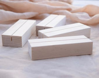 Set of Maple Wood Table Number Holders | Light Wood Wedding table number stands | Wedding sign holders | Wedding sign stands | Menu stands