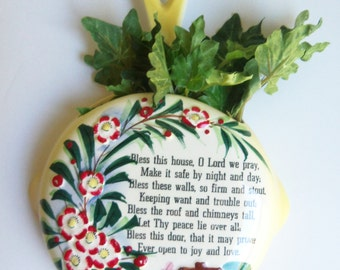 Bless this House - Lefton Porcelain Wall Plaque