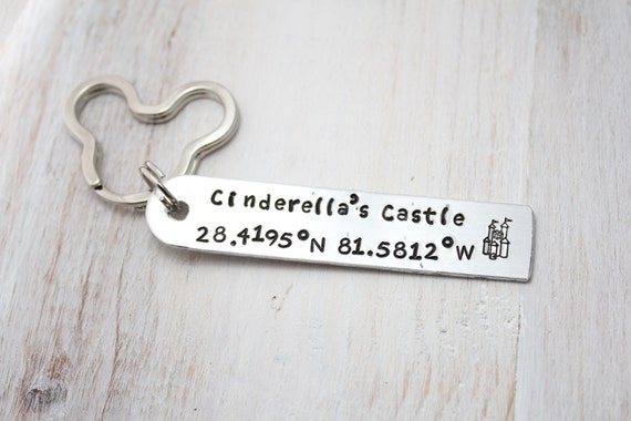 Disney world cinderellas castle coordinates key chain like this item sciox Image collections