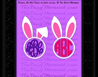 Easter Shirt Monogram svg- Easter SVG file- Easter Bunny Svg- Bunny Ears Svg- Cricut- Silhouette Dxf- Iron on- Vinyl Shirt Design Cut file