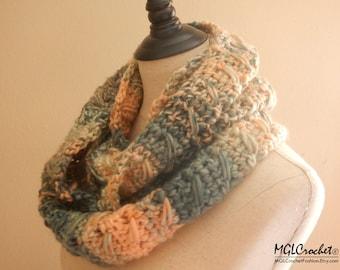 Orange Dream Infinity Scarf | Crochet Scarf | Cowl | Chunky Scarf | Super Soft | Bulky