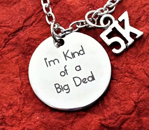 CrossFit Necklace, Triathlon Marathon Charms, Coach Athlete Gifts, Bodybuilding Gift, I'm Kind of a Big Deal, Motivational Fitness Jewelry