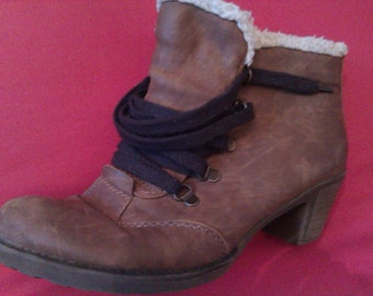 Rieker leather winter shoes Vintage winter boots