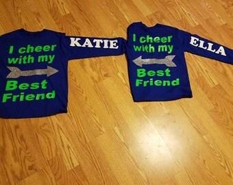 Cheerleader, Cheerleading, Best Friend, Cheer Mom, Cheer Dad, Long Sleeved Shirt
