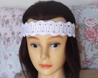 Hand Crochet Headband, Lacy Look Headband, Hair Accessory, Designed by: Artz Fartz Studio
