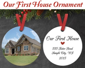 Our First Home Ornament - Custom Ornament - Our First House - or other custom text!