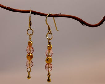 Earrings Pearl Earrings pink gold
