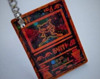 "MINI Ancient Mew ""Holographic"" Pokemon Card Keychain"