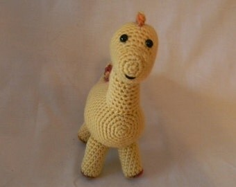 Yellow Dinosaur - crochet amigurumi stuffed toy