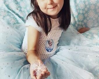 Frozen Tutu Dress - Halloween Outfit - Princess Tutu Dress - Party Dress - Elsa Tutu Dress - Birthday Dress - Blue Dress - Sparkly Dress