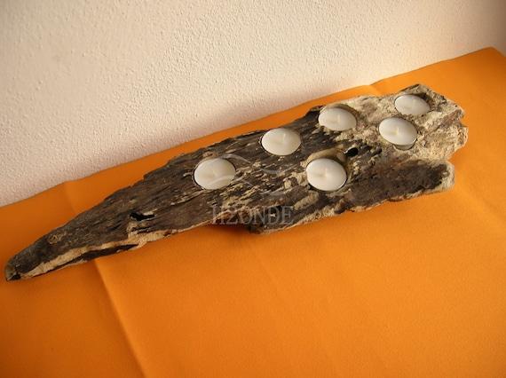 Sostenedor de vela de madera en centros de decoración de por h2onde