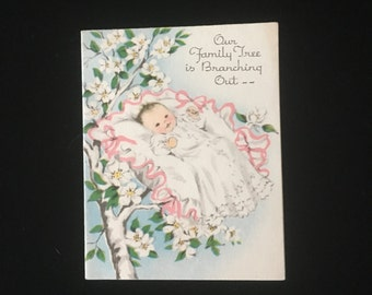 1950s Birth Announcement Cards
