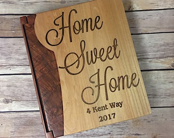 Home Sweet Home Photo Album, Photo Album with Address, Wedding Gift, Gift for Newlywed, Housewarming Gift, House Closing Gift, New Home