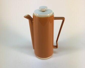 Mid century orange tea pot