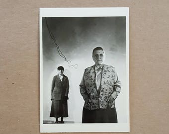 Gertrude Stein and Alice B. Toklas Postcard 1930s Photo