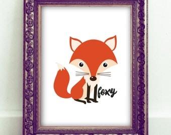 Fox Wall Art,Foxy Art,Fox Digital Download,Fox Printable,Nursery Art,Nursery Decor,Baby Shower Gifts,Gifts For Her,Gifts For Teens