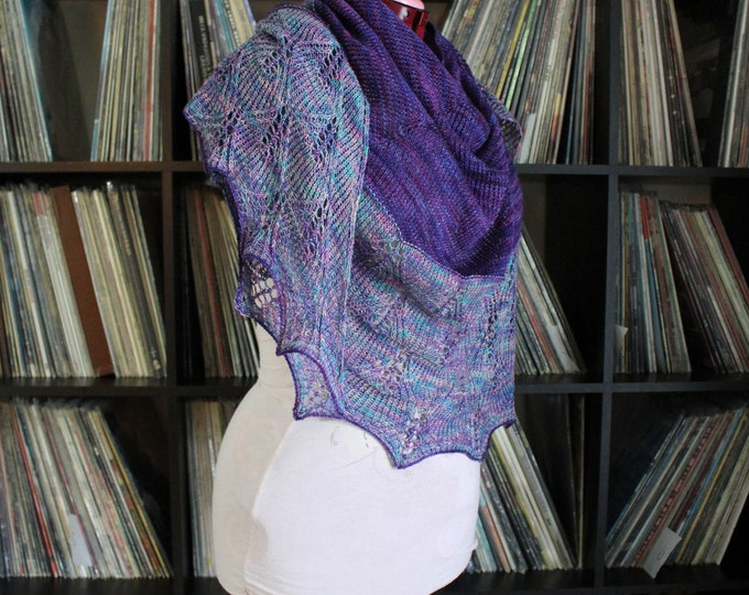 Instant Download Knitting Patter - Shawl - Drops of Jupiter