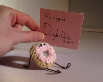 The Dough-Note Holder sticky note holder note stand donut paper stand
