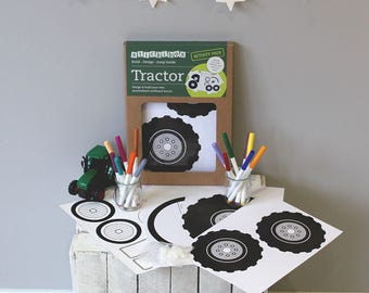 Cardboard Box Tractor Craft Kit