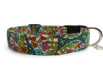 Liberty Lou Fabric Dog Collar, Unique Dog Collar, High Quality Dog Collar, Girl Dog Collar, UK Quality Made, Rare