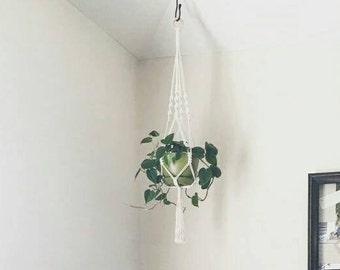 Medium Size Indoor Macrame Plant Hanger // Succulent Hanger // garden decor // window decor