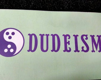 The Big Lebowski Authentic Church of Dude Ordained Priest Bumper Style Slap Sticker