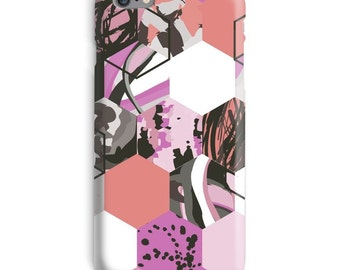 Pink iPhone Case, Purple iphone case, Abstract iphone 6 case, Mosaic iphone 6 case, Cool iphone 6s case, Awesome iphone case