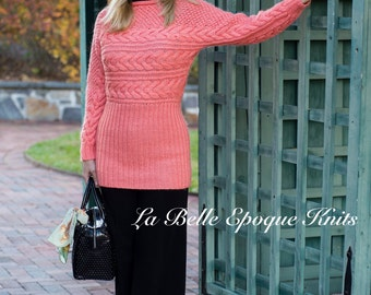 Made to order Womens Hand Knit Sweater, hand knit sweater, pullover, handmade, sweater, hand knit,