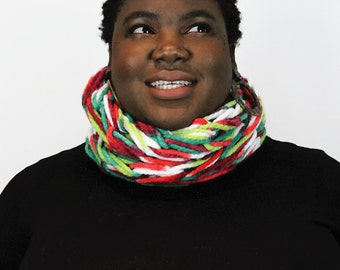 Seriously Chunky Print infinity scarf - HOLLY -