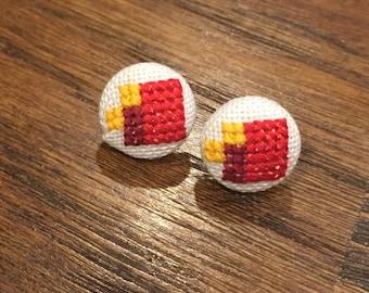Fez Cross Stitch Earrings