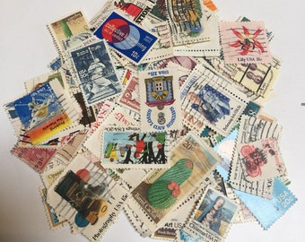 Lot of 100 U.S. Postage Stamps