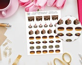 Chocolate Lovers Planner Stickers perfect for Erin Condren Life Planner, Kikki K or Filofax Planner and more...