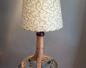 Mid Century Deer Hoof Table Lamp