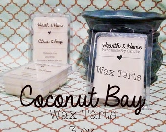 Coconut Bay Soy Melts 3 oz. | coconut melts | wax melts | candle warmer | scented melts | soy wax tarts