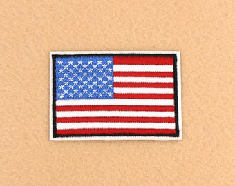 US Flag Patch Iron on Patch DIY Patch Embroidered Patch Applique Embroidery 7.2x5cm
