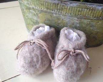 Felted Baby Booties