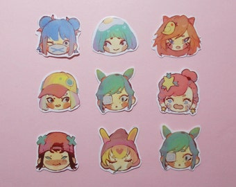 Cute Girls Stickers Pack