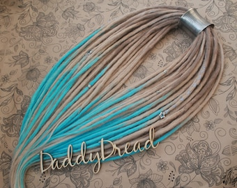 Triple Ombre Double Ended Crochet Synthetic Dreads
