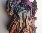 Infinity Scarf | Gift for Her | Shibori Infinity Scarf | Hand Dyed Scarf | Shibori Silk | Silk Scarf | Cocoa Scarf | Ombre Scarf | Womens
