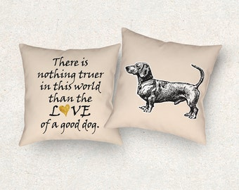 dachshund dog cushion 18x18 throw pillow dachshund pillow dog lover gift dog