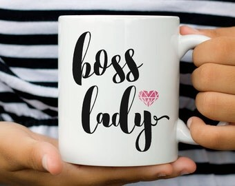 boss lady Mug, boss, Coffee Mug, Gift for boss, coworker, gift, coffee, mugs, for her, colleague, boss, office, manager, employee, Mrs