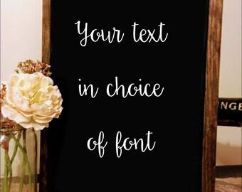 Custom Text Wooden Sign