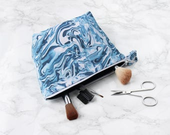 Paint Swirl Marble Boxed Makeup Bag - Cosmetic Bag - Toiletry Bag - Travel Accessory - Marble Print