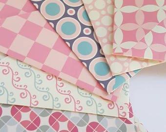 Set of 8 Pink Envelopes || Scrapbook envelopes || Gift Envelopes || Wedding envelopes || Money Envelopes || Tiny Envelopes